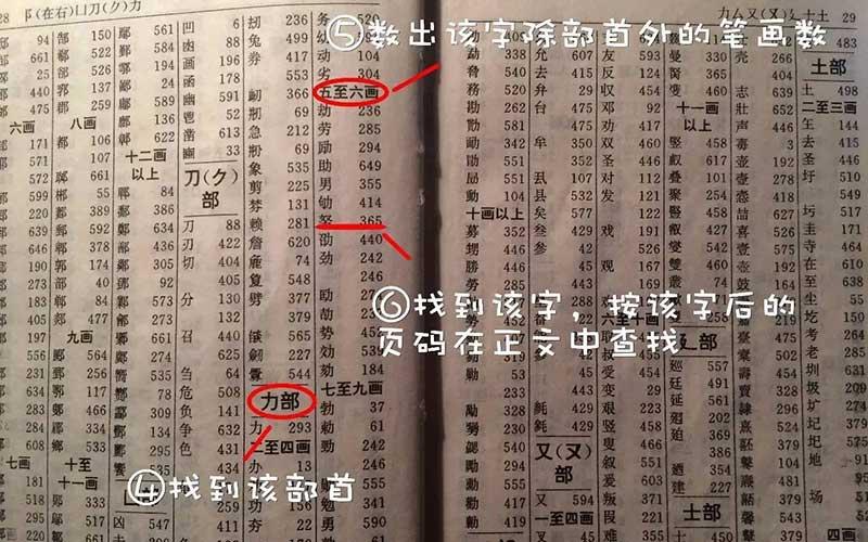 查字典:部首查字法